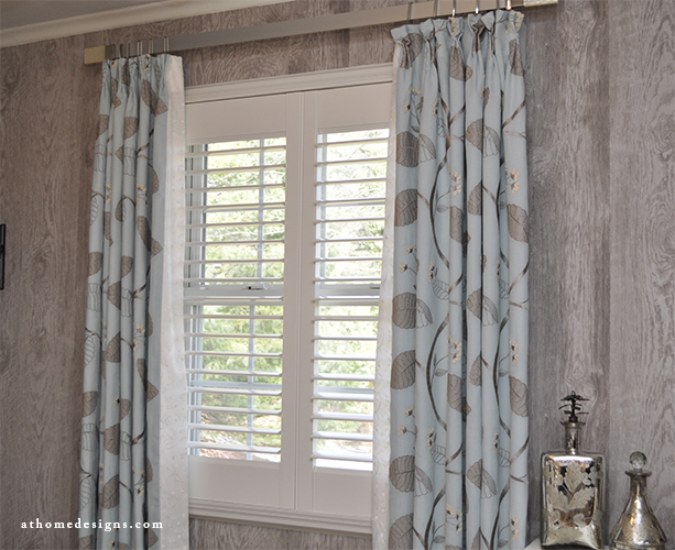 Custom window treatments panels roman shades at home for Custom window designs