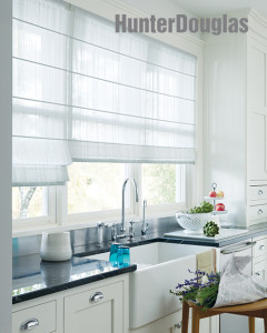 Design Studio roman shades kitchen picture