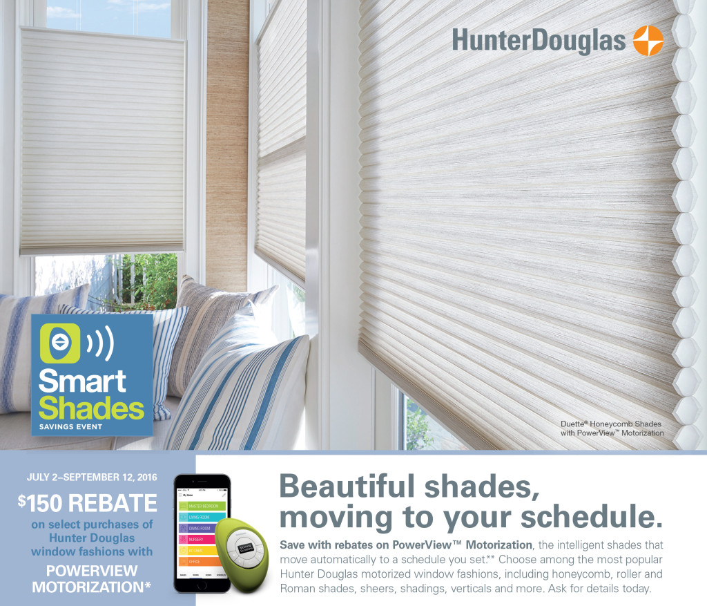 Why Choose Custom Window Treatments Smart Shades Savings Event